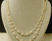 Somewhere In Time Elise's Swarovski Pearl & Crystal Day Necklace