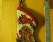 Irish Setter Dog Needlepoint MINI Christmas Ornament Stocking