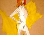 Nude painting- One Minute Pose CVIII.2 -original painted sketch by Gretchen Kelly