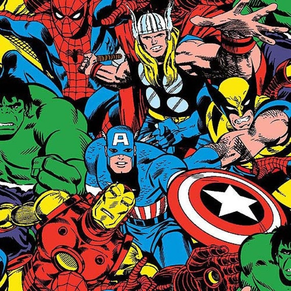 Superhero Iron Man Thor Hulk Spiderman Wolverine Captain