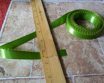 10 continuous yards of Green Apple Picot edge ribbon trims