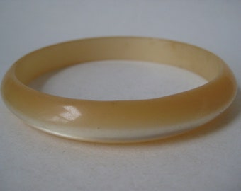 Yellow Moongiow Bracelet Bangle Lucite Plastic Vintage
