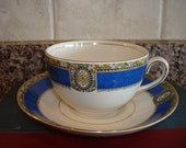 Sale...Rare vintage Myott Son & Co. The Hatherton design tea cup and saucer- England