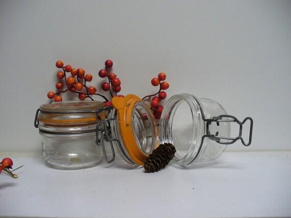 Set of 2 Little Mini Le Parfait Storage Jars