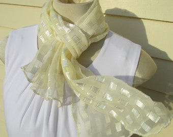 Pale Yellow Sheer Scarf Lemonade Iced Delight