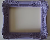 8x10 Shabby Cottage French Lilac Lavender or ANY Color Picture Frame WITH Glass and Back Wall Gallery Frame Vintage Inspired Ornate
