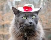 Hat for Cat - Spring Bonnet - Cat Halloween Costume - Pet Halloween Costume - Cat Photo Prop
