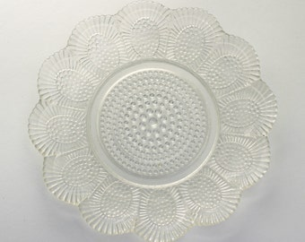 Vintage Glass Scalloped Trinket Dish