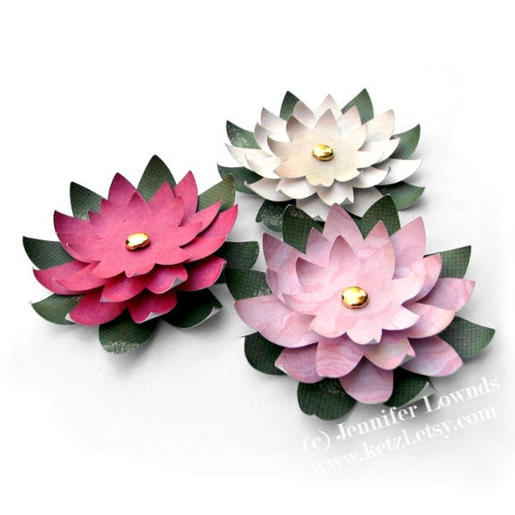 Origami instructions for lotus flower
