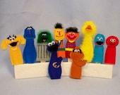 Sesame Felt Finger Puppets
