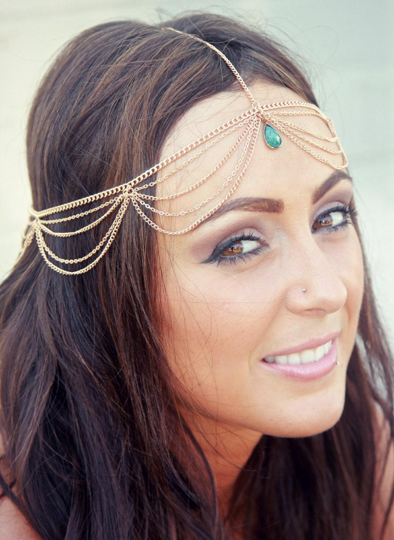 CHAIN HEADPIECE chain headdress head chain