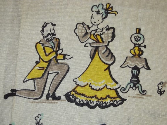 Vintage BRODERIE Towel Gay 90s From Proposal to Family Portrait MWT