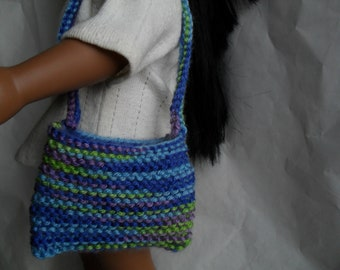 HandKnit Purse fits American Girl Doll Clothes Purse for Gotz or Cabbage Patch Dolls or any similar doll size