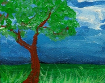 Tree painting on canvas, original art