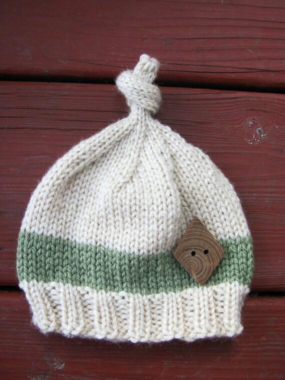 Newborn Baby Boy Top Knot Beanie Hat