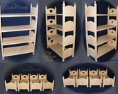 American Girl Doll Quad Bunk Bed for 18 inch Dolls Quadruple Four Stacking Beds Gift for Daughter Gift for Girl Birthday Gift Christmas Gift