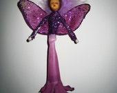 Glitzed Purple Fairy Ornament