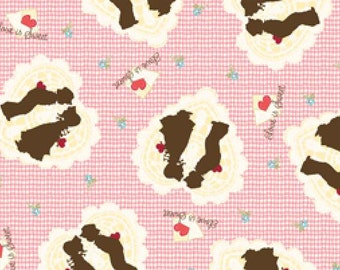 Valentines Holly Hobby Fabric 1/2 Yard