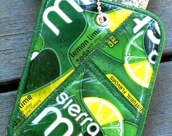 Luggage Tag from Recycled Sierra Mist Bottle Labels
