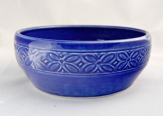 Royal Blue Casserole Dish - Ceramic Pottery Stoneware