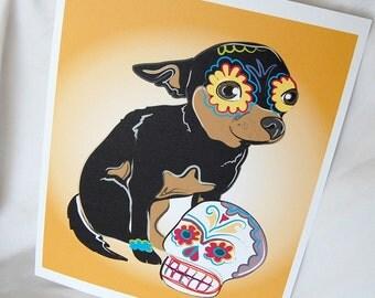 Muertos Chihuahua - 8x10 Eco-friendly Print