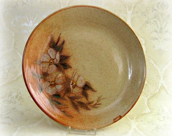 Second- Floral Platter with Beige and Rust Background