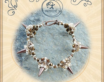 Bracelet tutorial / pattern Arnold bracelet with spike beads ..PDF instruction for personal use only