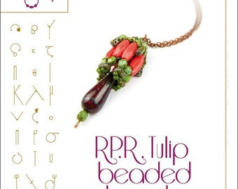 Rulla Picasso Roland tulip beaded beads - PDF instruction for personal use only