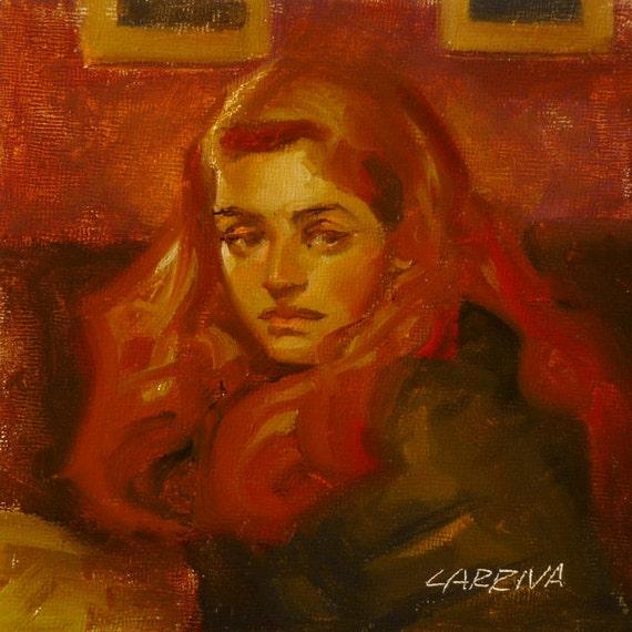 Locals - Original Oil Painting
