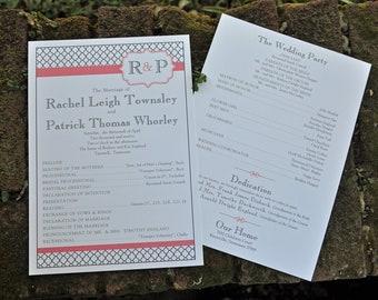 100 Simple Vintage Wedding Programs