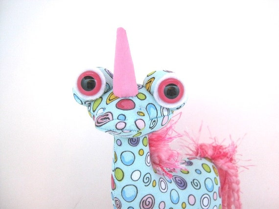 Alien Unicorn Plush, Cute Monster Toy by Adopt an Alien named Desiree