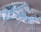 University of North Carolina Tar Heels Wedding Garter Set