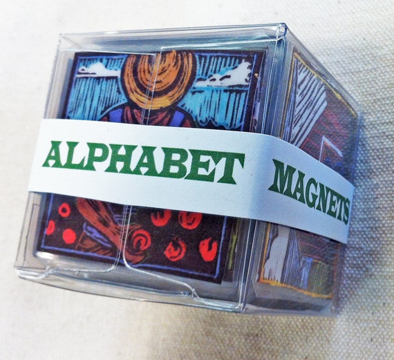 Farm Alphabet Magnets -- Complete Set of 26 (Small)