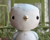 Paper Clay, Sculpture, Bird, Nestling No.12