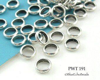 6mm Pewter Jump Ring Connector Closed Link (PWT 191) 50 pcs BlueEchoBeads