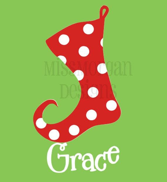 Items Similar To Personalized Christmas Stocking Iron On