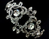 Statement Bridal Bracelet, Victorian Wedding, Swarovski Crystal Jewelry, YOHANNA
