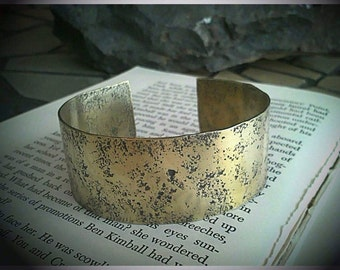 Hammered Pitted Solid Brass Cuff