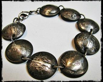Hammered Dime Bracelet