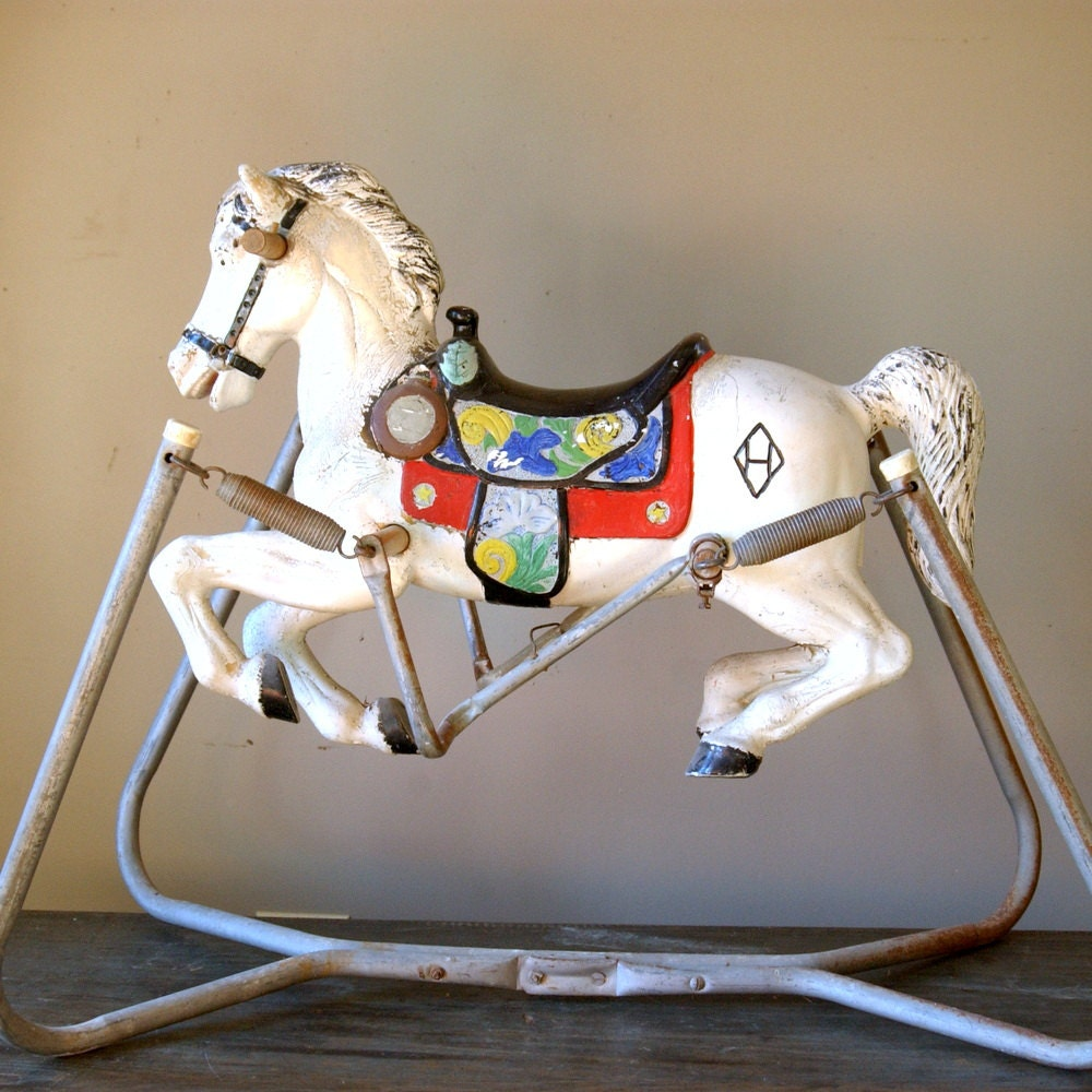Vintage Carousel Rocking Horse Spring By CountryAnthropology