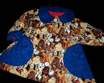 Reversible doggie coat sizes 6 months to 4 years
