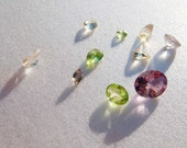 10 loose gemstones amethyst emerald and more FREE SHIPPING