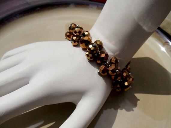 Vintage Beaded Chocolate brown bracelet