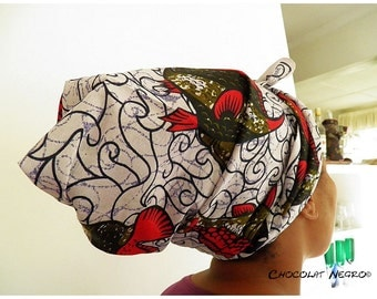 Fish Of Africa - Elegant Head Scraf / Wrap Or Turban made from traditional  African fabric