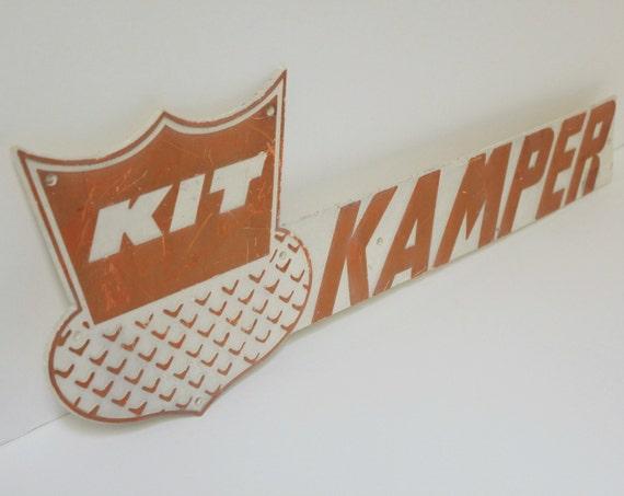 Vintage Kit Kamper Trailer Emblem Sign Plaque Camper