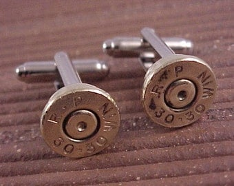Bullet Cufflinks / Remington Arms 30-30 Rifle Cuff Links / Wedding Cufflinks / Groomsmen Gift / Fathers Day Gift / Gifts For Men