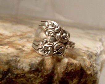 Sterling Silver Spoon Ring - Scroll