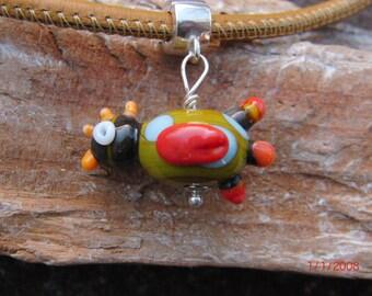 Handmade glass charm lampwork little bird by diane goergen