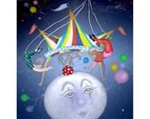 Big Top on a Little Blue Moon print