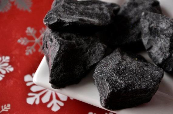 Lump of Coal soap vanilla bean scented
